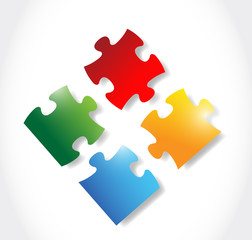 colorful puzzle pieces illustration