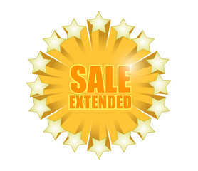 sale extended sign illustration design