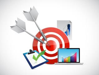 target economy concept illustration