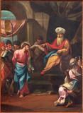 Padua -  The paint of scene Jesus for Pilate in Duomo