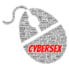 Cybersex word cloud concept