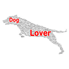 Dog lover word cloud concept