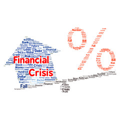 Financial crisis word cloud concept