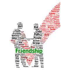 Friendshipword cloud concept