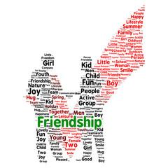 Friendshipword cloud concept