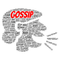 Gossip word cloud concept