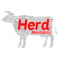 Herd mentality word cloud concept