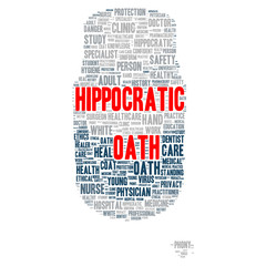 Hippocratic oath word cloud concept