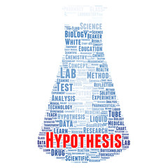 Hypothesis word cloud concept