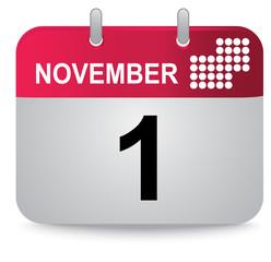 November, first, calendar