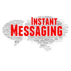 Instant messaging word cloud concept