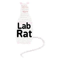 Lab rat word cloud concept