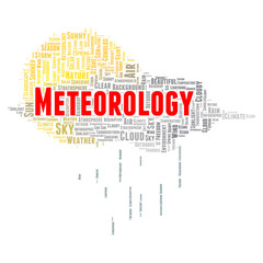 Meteorology word cloud concept