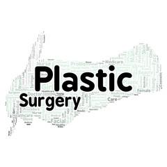 Plastic surgery word cloud concept