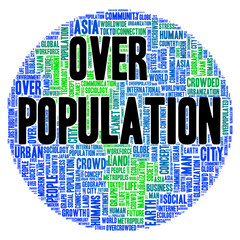 Overpopulation word cloud concept