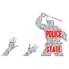 Police state word cloud concept