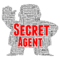 Secret agent word cloud concept