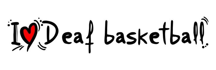 Deaf basketball love