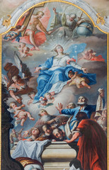 Assumption of Virgin Mary from chapel in Saint Anton palace