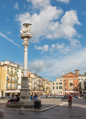 Padua - Piazza dei Signori square  and st. Mark column