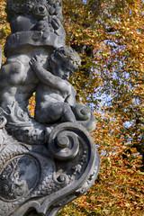 Prague - detail from Charles bridge - from st. Cajetan statue