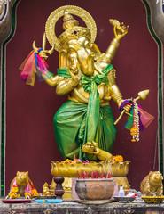 Golden statue of Ganesha
