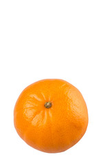 A Mandarin orange fruit over white background