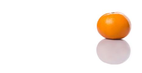 A Mandarin orange fruit over white background