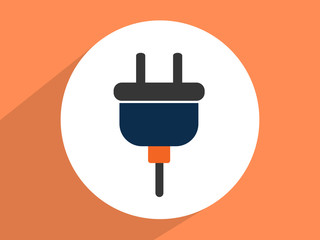 Electric plug  ,Flat design style