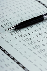 Showing business and financial balance (selective focus)