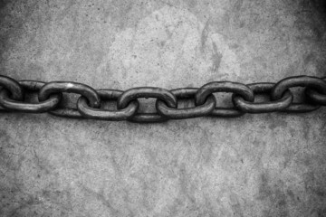 Rusty chain on floor