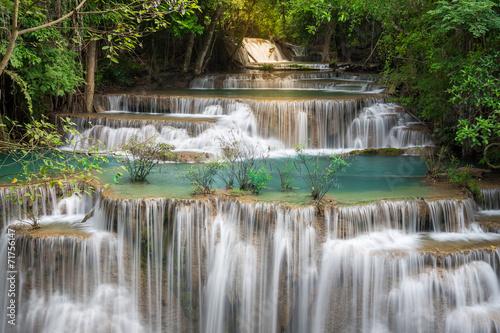 Plakat Thailand waterfall in Kanchanaburi (Huay Mae Kamin)