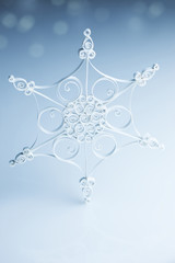Beautiful white handmade snowflake