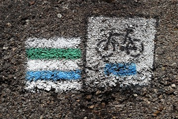 sign - trail and road cycling