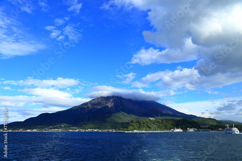 Leinwanddruck Bild 桜島1