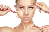 beauty concept anti-aging procedures, rejuvenation, lifting, poster