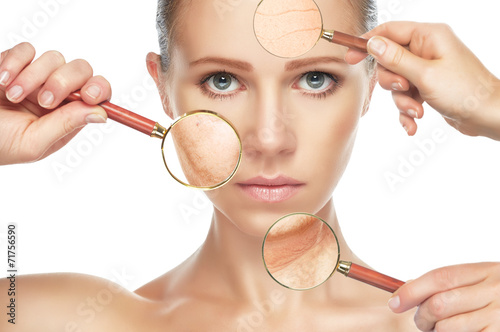 beauty concept anti-aging procedures, rejuvenation, lifting, - 71756590