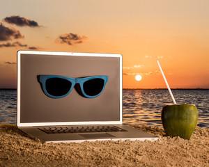Laptop on holidays