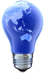 Light bulb with map. Australia
