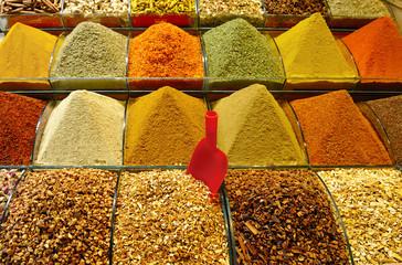 Istanbul, Turchia, spezie nel Bazar