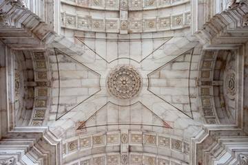 Ceiling of the Rua Augusta Arch in Lisbon