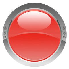 bouton rouge étoilé