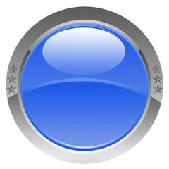 bouton bleu étoilé