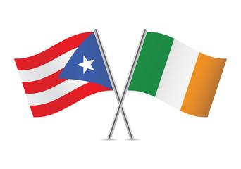 Puerto Rican and Irish. Vector illustration.