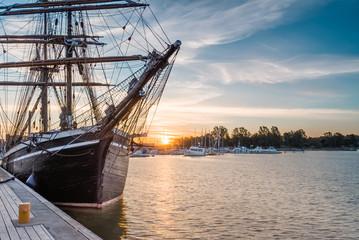 Sailing  Ship on Sunrise.