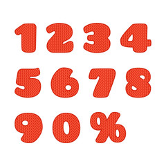 Knitted numbers set