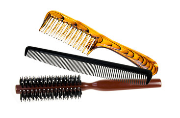professional comb set in bag color black