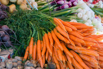 Carrots and Onions on Market Place