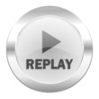 replay chrome web icon isolated