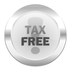 tax free chrome web icon isolated
